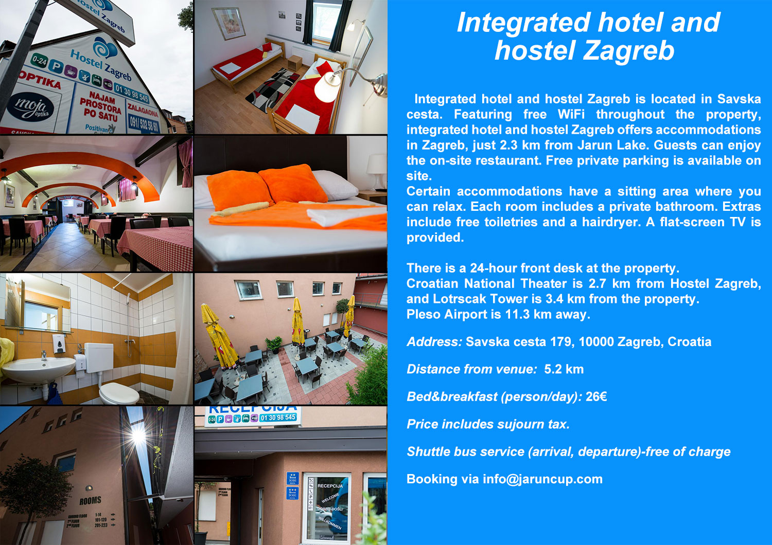Hotel and hostel Zagreb web