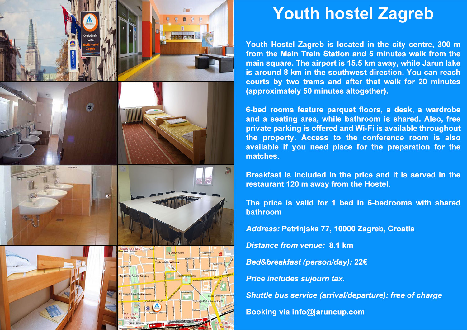 Youth hostel Zagreb accommodation