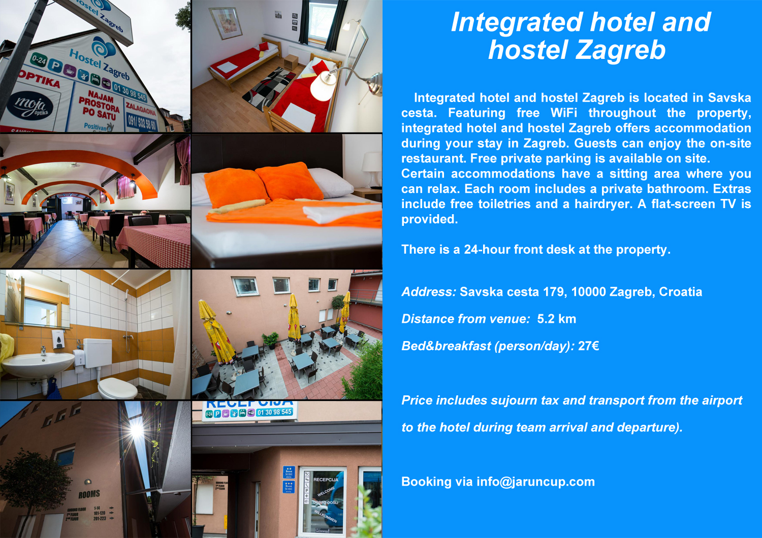 2020 Jarun cup hotel and hostel Zagreb small